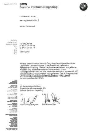 Referenz: BMW Service Zentrum Dingolfing