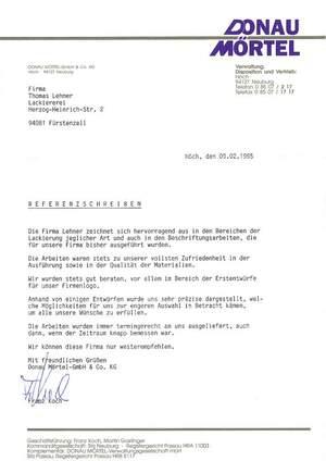 Referenz: DONAU MÖRTEL GmbH & Co. KG