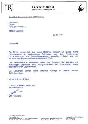 Referenz: Lorenz & Rankl GmbH & Co. Fahrzeugbau KG
