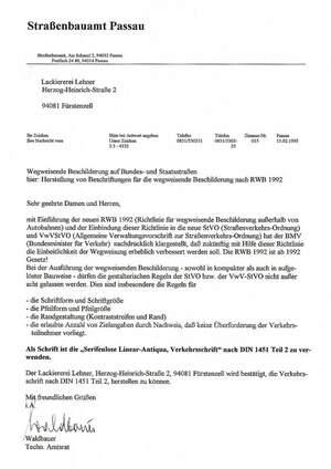 Referenz: Straßenbauamt Passau